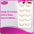 Natural Shape False Eyelash Strip Eyelash For leaner/beginner Practice 5 pairs/tray