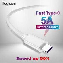 5A USB نوع C كابل يو إس بي 3.1 شاحن سريع نوع البيانات C سوبر تهمة كابل لسامسونج S8 S9 هواوي P10 P20 برو ماتي 10 USB C الكابلات