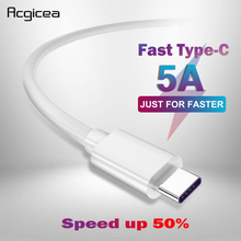 5A USB Type C Kabel USB 3.1 Fast Charger Data Type C Supercharge Kabel Voor Samsung S8 S9 Huawei p10 P20 Pro Mate 10 USB C Kabels
