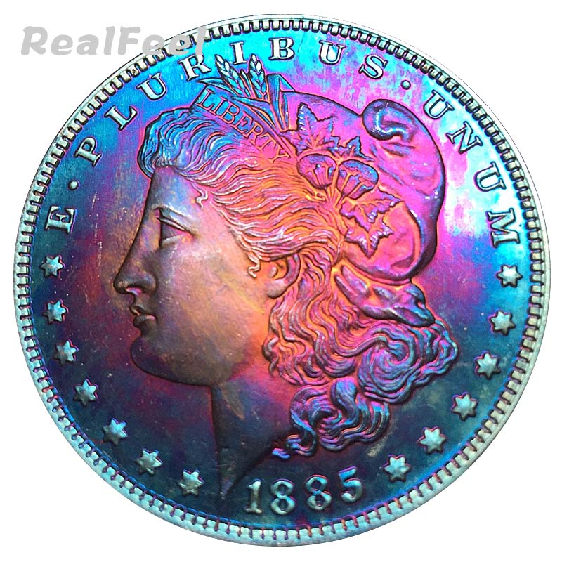 1885 copy coins USA complete versions 90% silver dollar replica coins Morgan dollar coin decoration liberty collectible coins