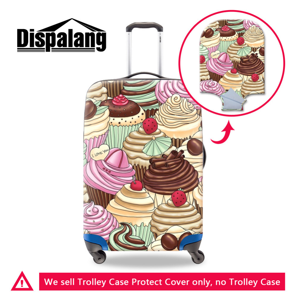 Dispalang Ice Cream Print Travel Luggage Protective Cover For 18-30 Inch Suitcase Waterproof Luggage Cover Elastic Stretch Cover