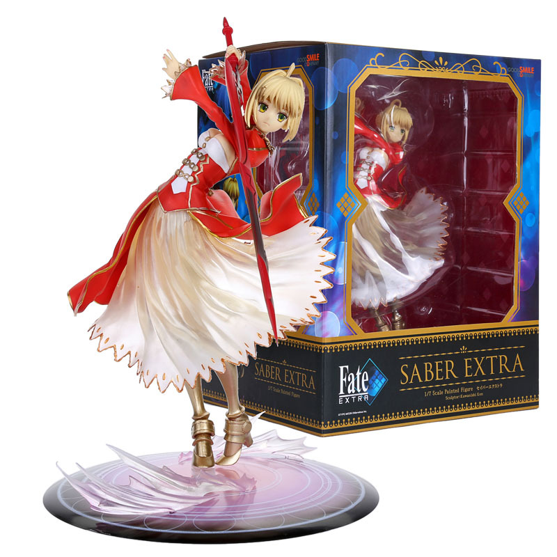 Fate stay Night Fate/EXTRA Saber Lily 1/7 Scale PVC Figure Collectible Model Toy 9 23CM FNFG029 fate stay night fate extra red saber pvc figure toy anime collection new