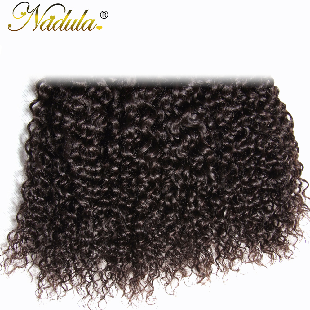 Nadula Hair 8-26inch Indian Curly Hair 100%  Bundles Machine Double Weft  Hair s 1Piece Can Be Dyed 6