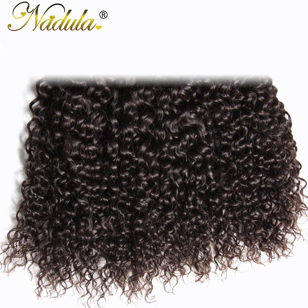 Nadula μαλλιά 8-26 ιντσών ινδικά σγουρά - Ανθρώπινα μαλλιά (για μαύρο) - Φωτογραφία 6