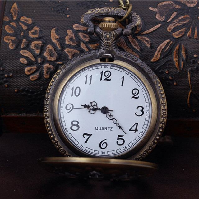 2018 hollow Shape DAD Vintage Chain Retro The Greatest Pocket Watch Necklace For Grandpa Dad Gifts  Bronze copper steel #0521