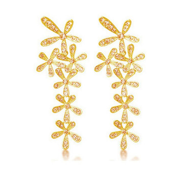 Flower Dangle Earrings Crystals And Get Free Shipping On Aliexpress