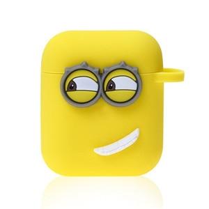 Image 4 - 귀여운 노란색 실리콘 이어폰 케이스에 대 한 애플 Airpods i7 i10 TWS 블루투스 헤드폰 케이스 이어폰 액세서리 선물에 대 한