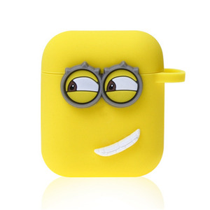 Image 4 - Cute Yellow Silicone Earphone Case For Apple Airpods i7 i10 TWS bluetooth Headphone Case Earphone Accessories For gifts