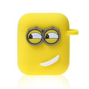 Image 4 - Śliczne żółty silikon słuchawki Case dla Apple Airpods i7 i10 TWS słuchawki z bluetooth Case akcesoria do słuchawek na prezenty