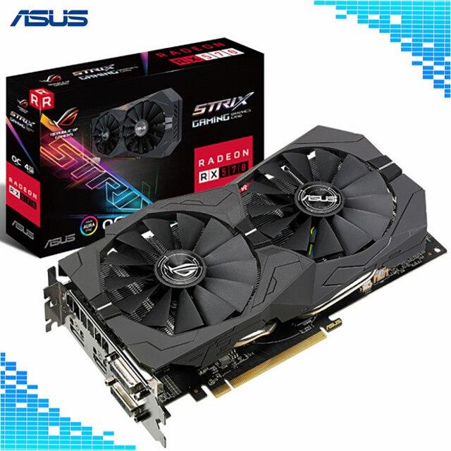 Asus ROG-STRIX-RX570-O4G-GAMING Graphics Cards 1300/1310MHz 256Bit GDDR5 PCI Express 3.0 16X AMD Radeon RX570 4G Graphics