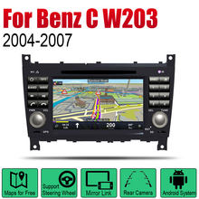 Android 2 Din Auto Radio DVD For Mercedes Benz C Class W203 2004~2007 NTG Car Multimedia Player GPS Navigation System Radio цена