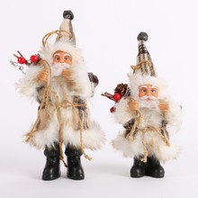 Christmas Santa Claus Doll Toy Christmas Tree Hanging Ornaments Decoration Exquisite For Home Xmas Happy New Year Gift 2017