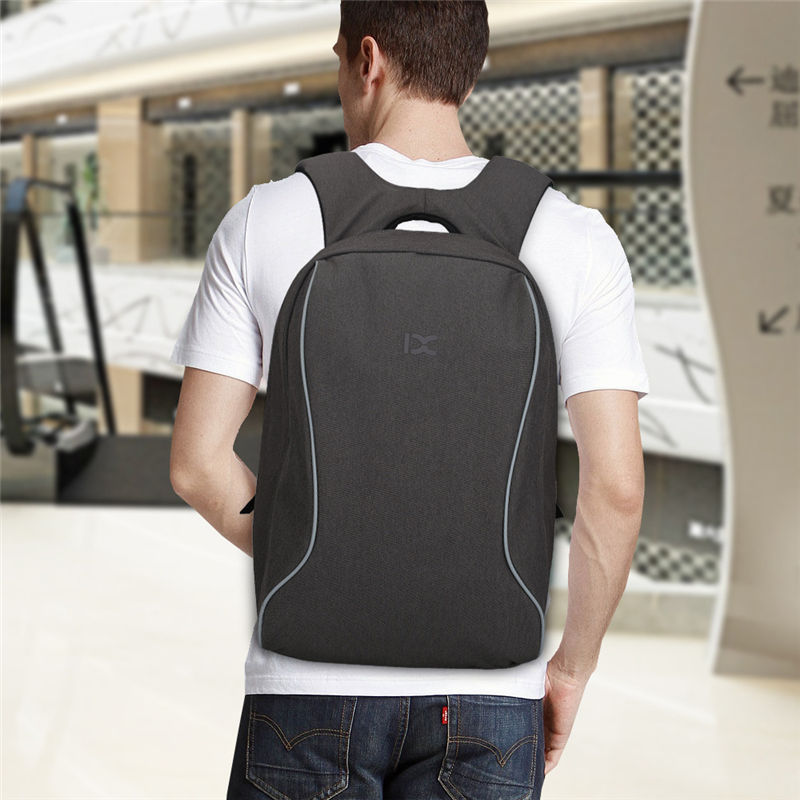IX 15.6inch Laptop Backpack Anti Thieft School Bag Leisure Travel Backpacks Waterproof Rucksack Women Men Shoulder Bags XA259WA
