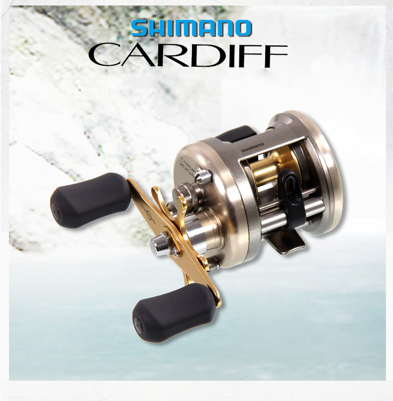 Japan Shimano CARDIFF 200A 201A 300A 301A 400A 401 Baitcasting Fishing Reel 4+1BB 5.8:1 Round Fishing reel