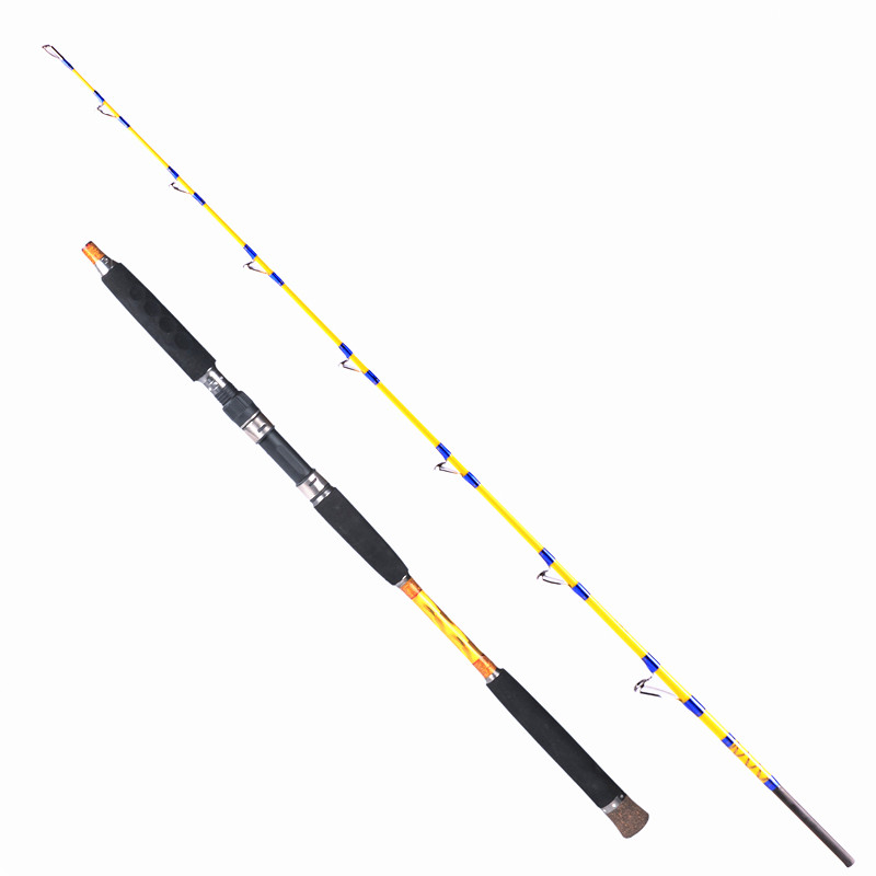 Gigh quality fishing rod 1.6-1.7 meters 2 section lure wt 150-300g boat rod high carbon superhard jigging rod fishing tackle free shipping 1 65m 1 80m carbon jigging fishing rod 2 section 20 30 lb light jig boat fishing rod