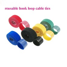 2cm*5M Hot Reusable nylon Cable Ties back to back tie strap Magic Tape hook loop fastener cable wire management thin hook ties
