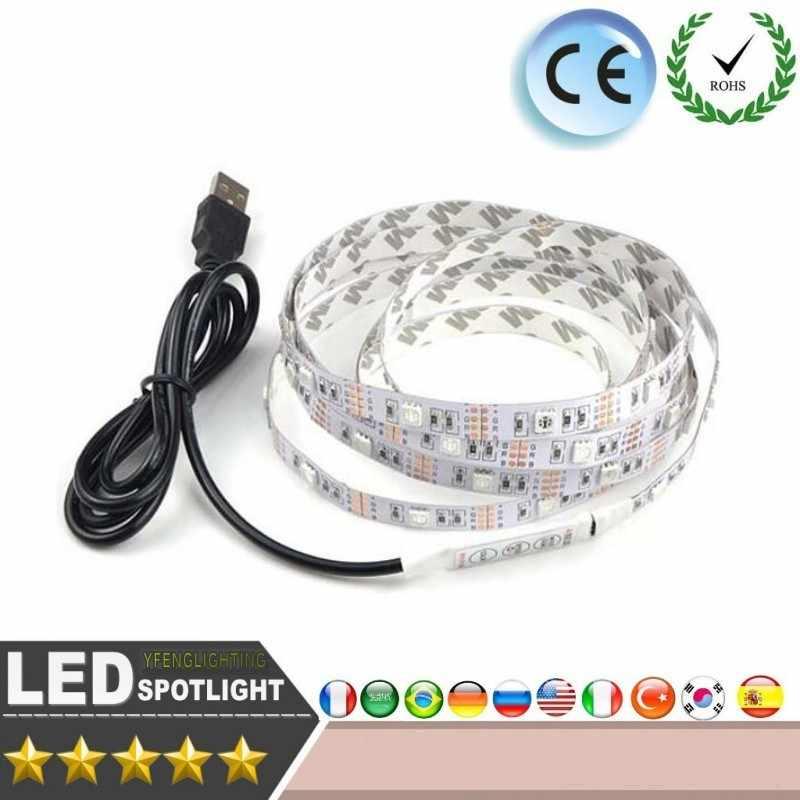 LED רצועת אור SMD 3528 RGB 0.5M 1M 2M 2M 5M DC5V/12 V טלוויזיה רקע מסגרת תמונה חג המולד המפלגה פנים רכב רצועת אור