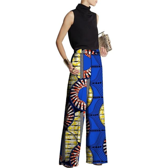 Lady Ankara African Women Wide Leg Pants Fashion Dashiki African Clothes  Print Batik Loose Long Pants Women Africa Clothing 0c24f66cd3