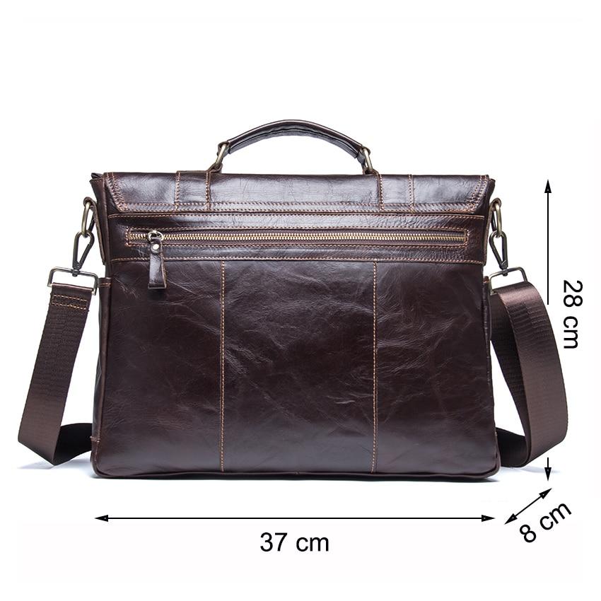 CONTACT'S men's briefcase genuine leather business handbag laptop casual large shoulder bag vintage messenger bags luxury bolsas 1