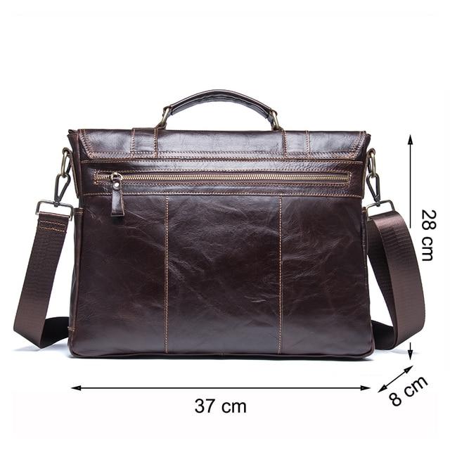 Contactbriefcase s masculino maleta de negócios couro genuíno bolsa portátil casual grande bolsa de ombro do vintage mensageiro sacos luxo bolsas 1