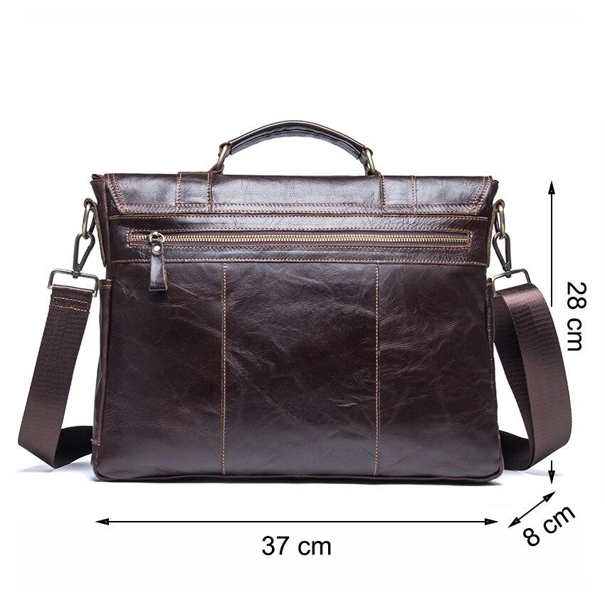 CONTACT'S men กระเป๋าเอกสารหนังแท้กระเป๋าถือลำลองไหล่กระเป๋า vintage messenger กระเป๋า bolsas-ใน กระเป๋าเอกสาร จาก สัมภาระและกระเป๋า บน   2