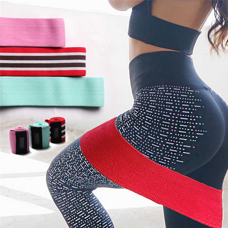 Bawełna odporność na biodra opaska antypoślizgowa Widen Circle Loop ćwiczenia opaski elastyczne do treningu jogi rozciąganie trening Fitness Gum
