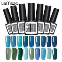 Vernis à laque bleu LEMOOC Gel 8ML 229 couleurs Vernis à ongles LED UV manucure Semi permanente pour ongles Vernis à ongles