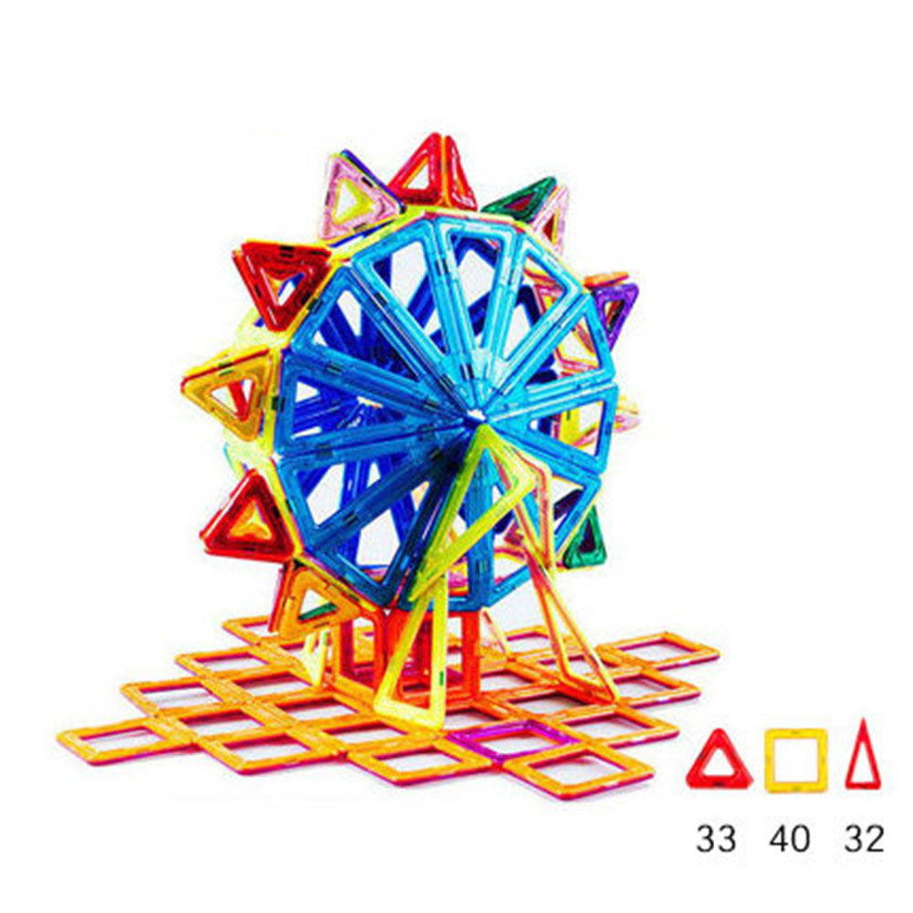 Ferris Wheel Shape Magnetic Designer Building Blocks Model & Building Toys Brick Enlighten Bricks Magnetic Toys for Children small car shape magnetic designer building blocks model