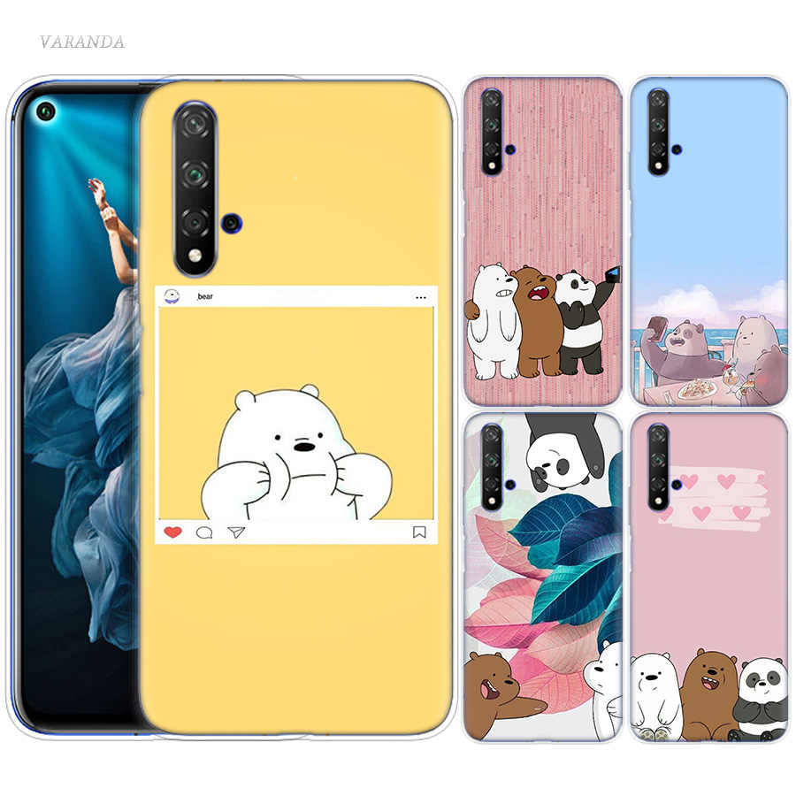 We Ice Bare Bears Case for Huawei Honor 8X 8C 8 9 10 20 Play 8A lite Pro V20 Y9 Y7 Y6 Y5 Prime 2018 2019 TPU Kawaii Phone Bags