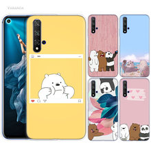 We Ice Bare Bears Case for Huawei Honor 8X 8C 8 9 10 20 Play 8A lite Pro V20 Y9 Y7 Y6 Y5 Prime 2018 2019 TPU Kawaii Phone Bags(China)