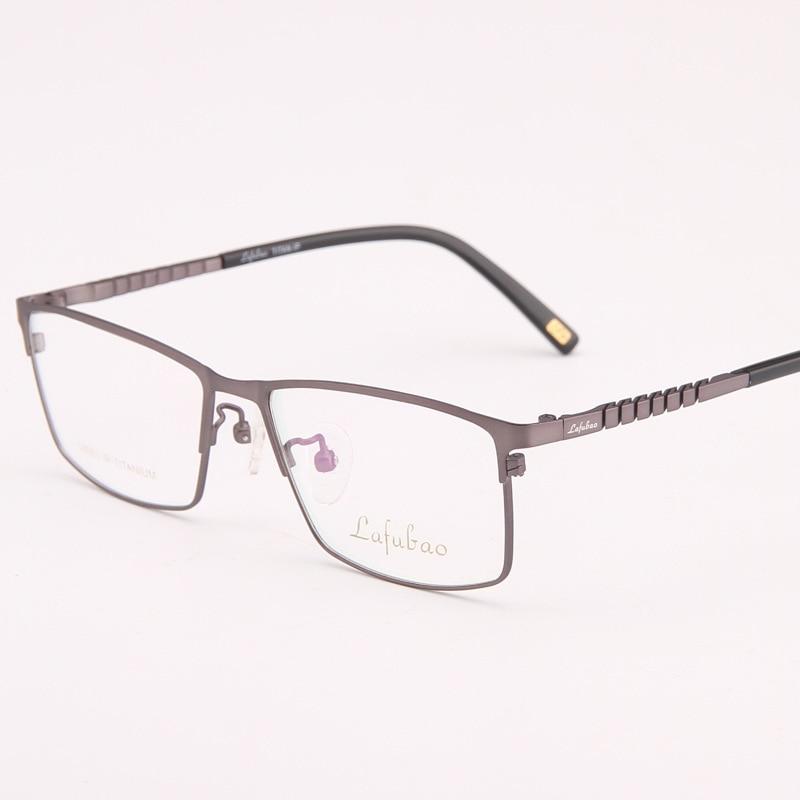 3395fde9dd19 Viodream 100% Pure Titanium Super Light Business Full Glasses Frame ...