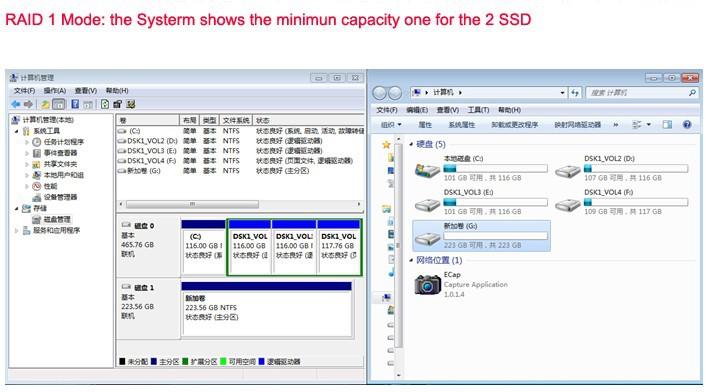 USB 3.1 Type-C to 2 mSATA SSD enclosure USB-C to mini SATA SSD RAID 1 0 adapter 8