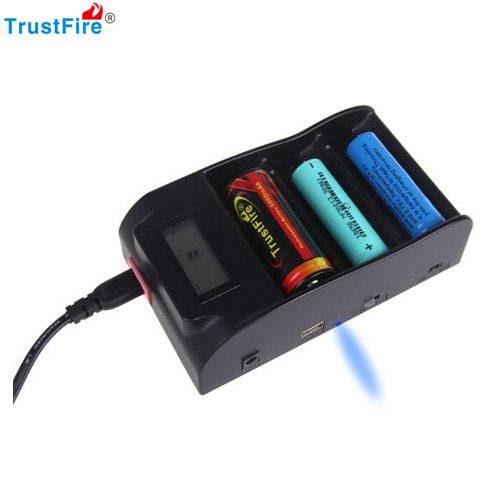 Trustfire tr-008 3.0 v 4.2 v 18650 25500 26650 26700 32650 chargeur de batterie avec écran lcd écran