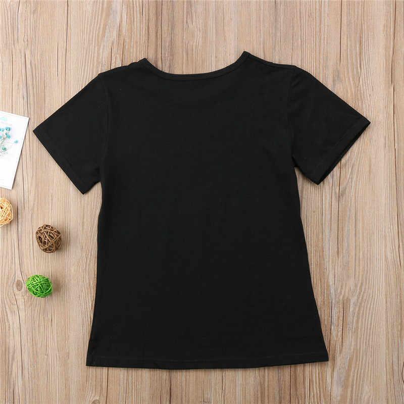 1 piezas de verano familia juego ropa camiseta mujer hijo hija mamá camiseta Tops niños niñas niños camiseta Casual ropa caliente