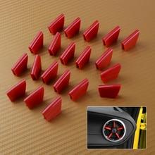Beler 20 pz Rosso ABS Aria Condizionata Interna Vent Uscita Della Decorazione Della Decorazione Della Copertura Trim Misura Per Chevrolet Camaro 2016- 2018