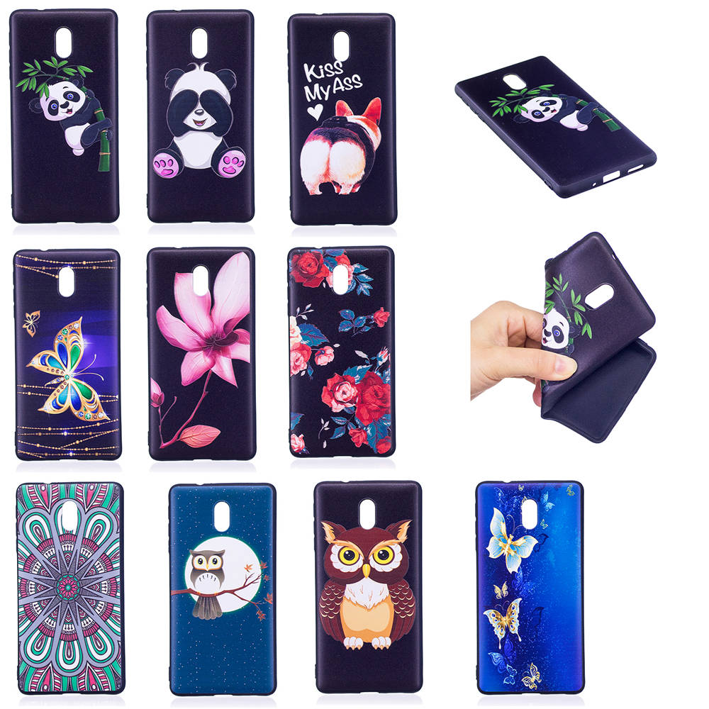 Cute Phone Cases Coque For Nokia 3 Dual SIM Global 5.0 Covers Relief Cases TPU Capa For Nokia3 Nokia 3 16GB Cases For Man Women
