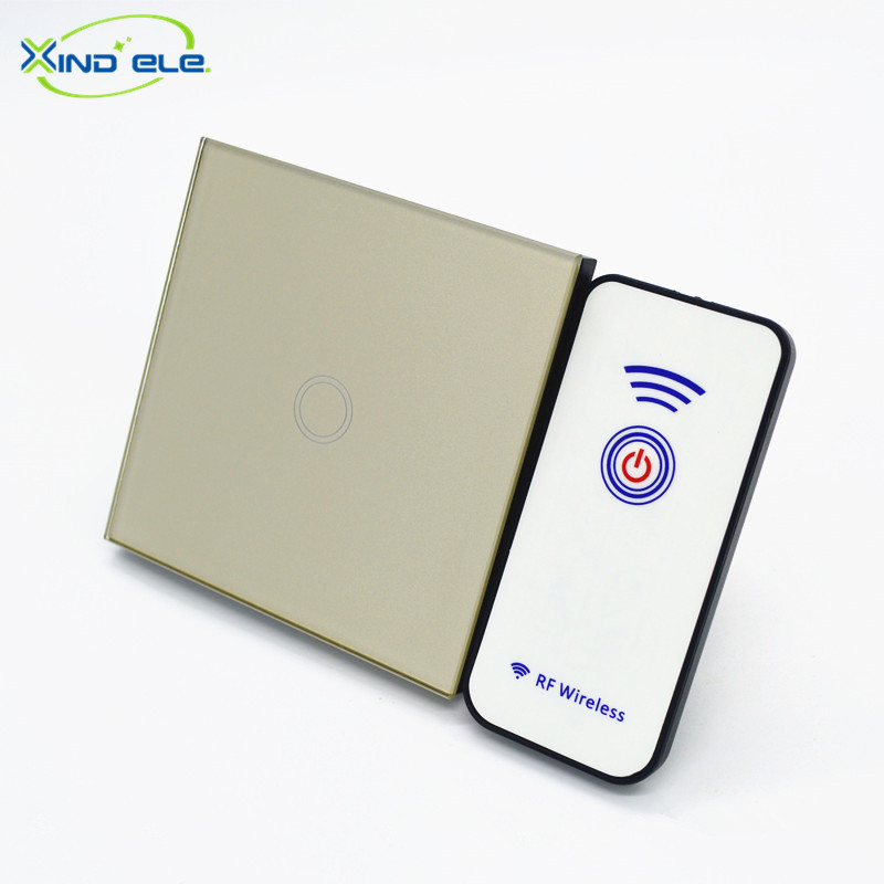 XIND ELE Tempered Glass Smart touch wall switch for Home automation #XDTH01G+PM1# xind ele crystal glass panel smart home touch light wall switch with remote controller interruptor de luz xdth03b blr 8