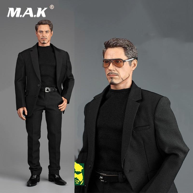 1/6 Black Men Gentleman Suit Clothes Set AFS TOYS A013 Men's Casual Suit Set For 12