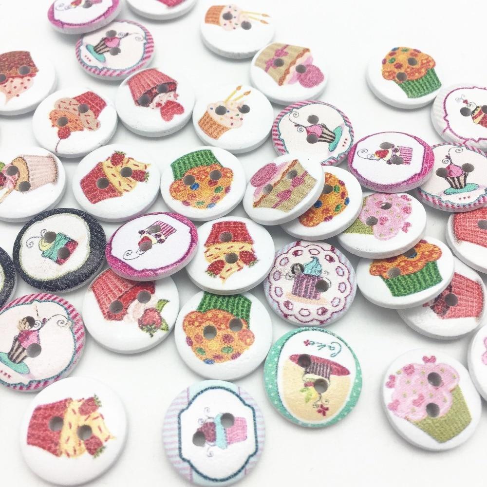 150 en Pointillé Chien en Bois 2 Trous Boutons pour Couture Tricot Crochet Craft