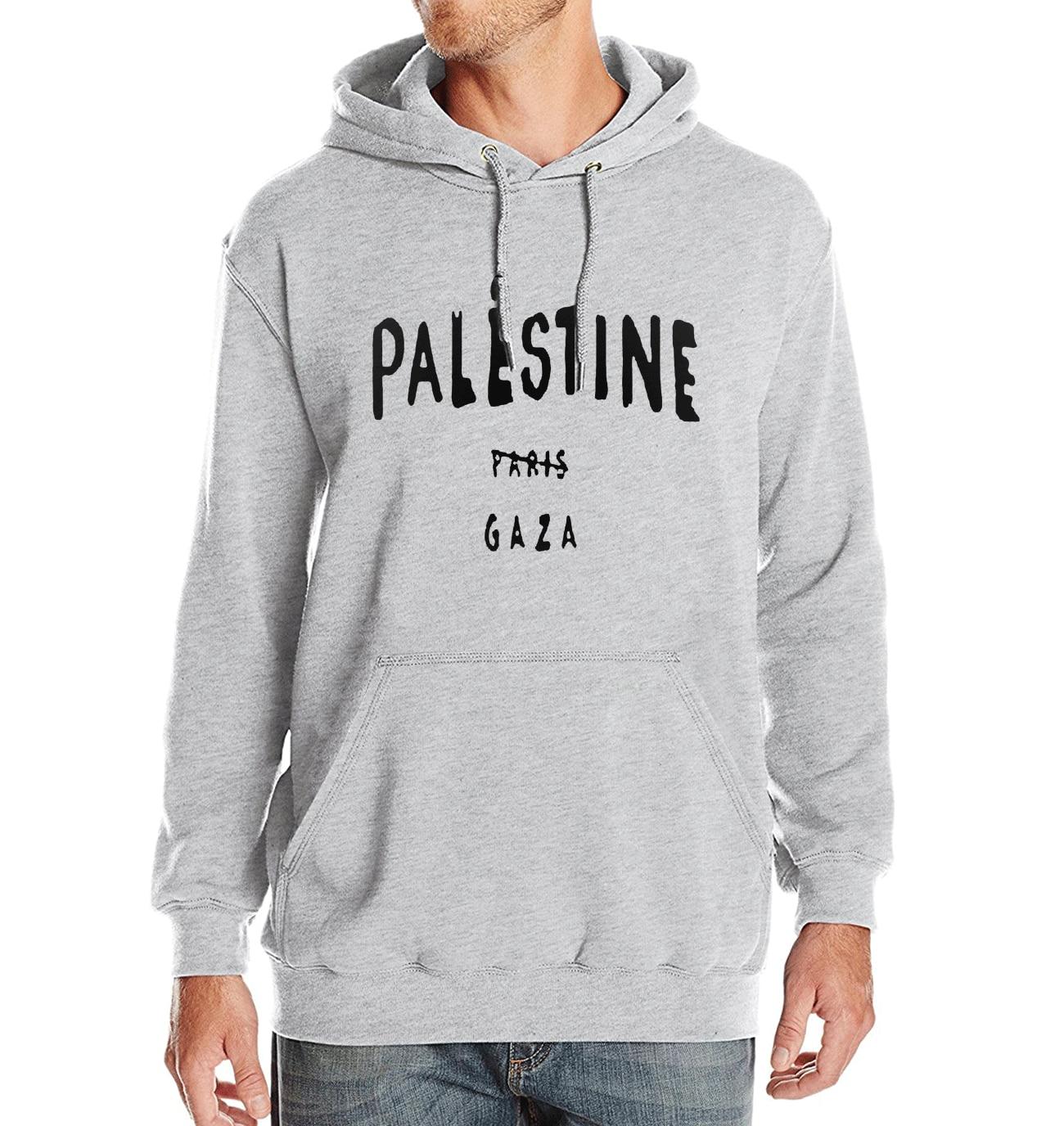 Hoodie Men Sweatshirts 2017 Spring Winter Fleece Letter Printed Palestine Paris Gaza Fashion Casual Men's Sportswear Brand Hot