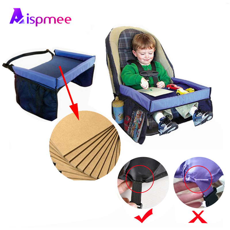 ASIPMEE High Quality Travel Tray  Baby Car Seat Tray Stroller Kids Toy Food Water Holder Desk Children Portable Table 40*32cm