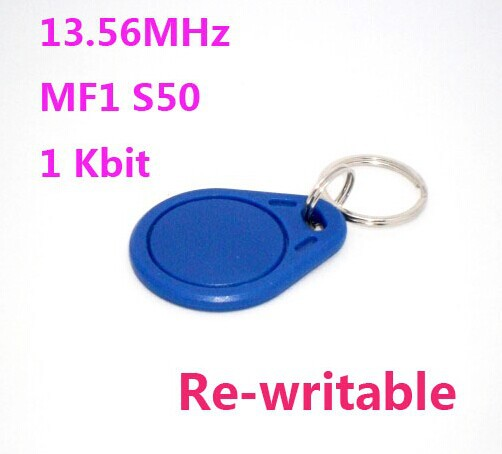 Wholesale 1000pcs RFID Tag Re-writable NFC Tag 13.56MHz Mif1 S50 Key Fobs For Access Control System 1000pcs long range rfid plastic seal tag alien h3 used for waste bin management and gas jar management
