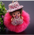 1 Piece  kiki doll Toys  Key chain Toy Doll  Kids Gifts 6 colors Free Shipping