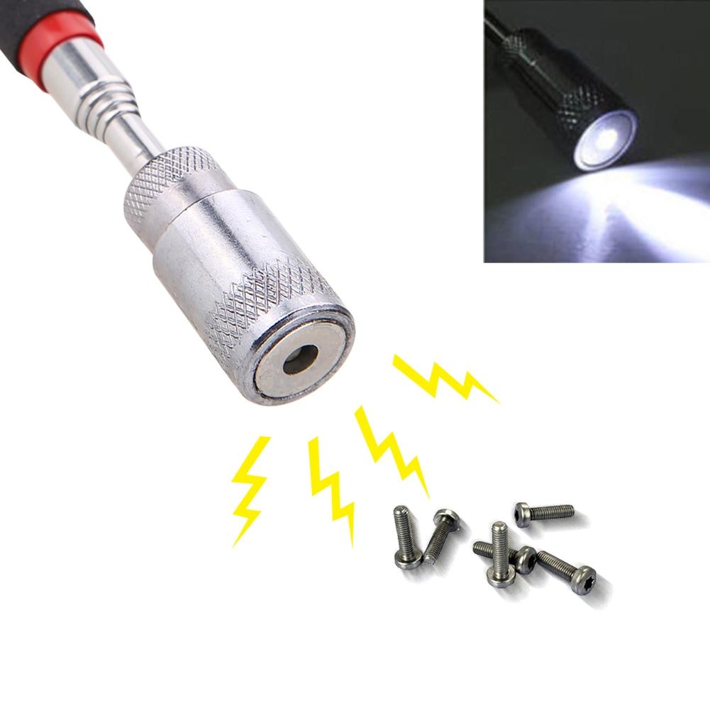 LED Magnetic Telescopic Pen Extendable Telescopic Flexible LED Torch Magnetic Pick-Up Tool Magnet Rod Light Flashlight