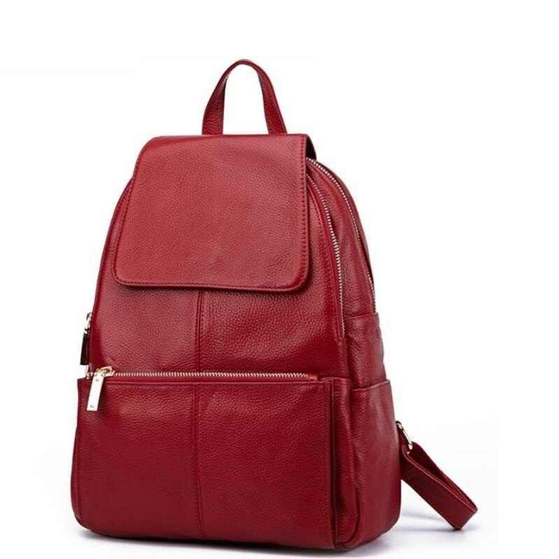 00d3400dcf08 Из натуральной кожи Для женщин рюкзак высокое качество кожаные рюкзаки для  девочек-подростков Женский школьная