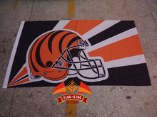 Hot sale Cincinnati Bengals  Rugby Helmet  flag, football club fan NHL banner, flag king 90*150CM polyster, Cincinnati Bengals
