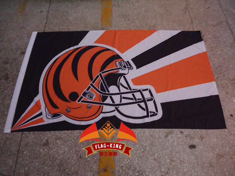 Hot sale Cincinnati Bengals Rugby Helmet flag, football club fan NHL banner, flag king 90*150CM polyster, Cincinnati Bengals
