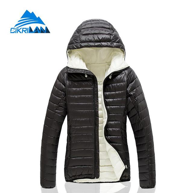 5066d3af2e Puffer En Plein Air Randonnée Escalade Ultra Léger Duvet de Canard Veste Femmes  Manteau de Ski