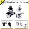 "Motorcycle  Aluminum 1"" 25 mm Handle bar Clamp Handlebar Riser For Harley Sportster XL 883 1200 Dyna Softail Electra Glide Chopp"