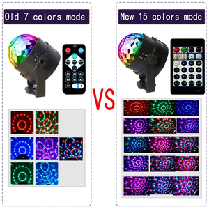 Image 5 - ALIEN 4W 15 Colors Sound Activated Crystal Magic Ball RGB LED Stage Lighting Effect Party DJ Disco Lamp With Remote Controller